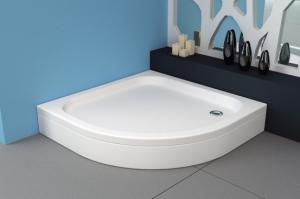 Ontex negyedköríves akril zuhanytálca