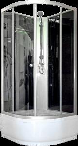 Aqualife Opal 509 C fekete zárt zuhanykabin mély tálcával