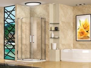 Aquatek Party S7 íves nyílóajtós zuhanykabin 90x90 cm