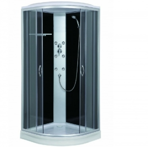 Sanotechnik Punto Fekete Quick Line hidromasszázs zuhanykabin