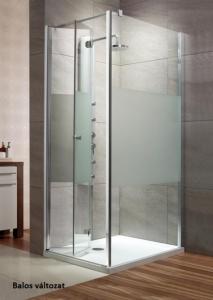 Radaway EOS KDJ-B szögletes harmonika ajtós zuhanykabin
