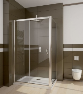 Radaway Premium Plus DWJ+S szögletes görgős aszimmetrikus zuhanykabin