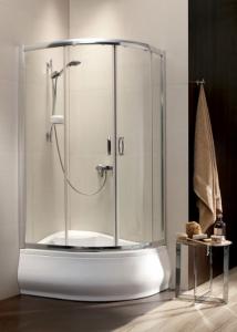 Radaway Premium Plus E 1700 aszimmetrikus magastálcás görgős zuhany kabin