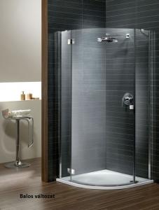 Radaway Almatea PDJ íves nyílóajtós zuhanyfülke króm elemekkel