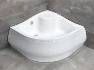 Radaway Korfu A íves akril magas zuhanytálca