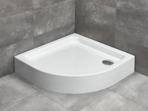 Radaway Laros A 85x85 akril íves zuhanytálca