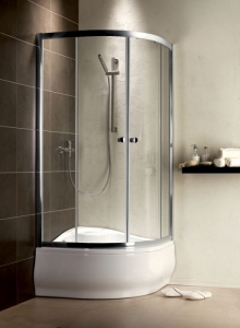 Radaway Premium A1700 íves görgős zuhanykabin
