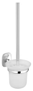 AQUALINE RUMBA fali WC-kefetartó, tejüveg/króm (RB108)