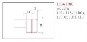 Roltechnik Lega Line 1,5 cm-es zuhanykabin toldóprofil