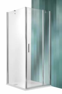 Roltechnik Tower Line TDO1+TB szimmetrikus zuhanykabin egy ajtóval és egy oldalfallal