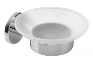 AQUALINE SAMBA szappantartó, tejüveg/króm (SB102)