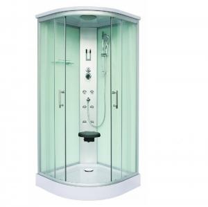 Sanotechnik Scala fehér Quick Line hidromasszázs zuhanykabin