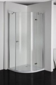 Sanotechnik Simplyflex íves zuhanykabin mintás üveggel egy nyíló ajtóval