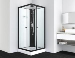 Sanotechnik STIL 2 hidromasszázs zuhanykabin, fekete