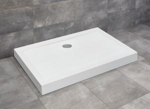 Radaway Doros Stone D szögletes zuhanytálca előlappal