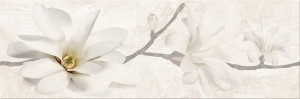 STONE FLOWERS BEIGE INSERTO 25X75_3795 Ft/darab