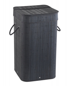 TATAMI szennyeskosár, 35,5x63x35,5cm, fekete (TA3814)