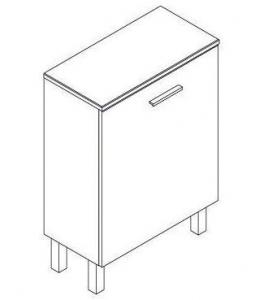 Tboss Trend A60 SZT kiegészítő bútor szennyes tartóval, magasfényű fehér színben OUTLET