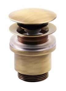 KLIK-KLAK mosdó lefolyó, túlfolyó nélkül, magasság 3-60mm, bronz (UD439S92)