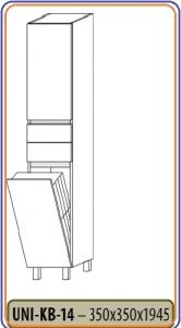 SANGLASS  kiegészítő bútor, ÁLLÓ UNI-KB-14, 350x350x1945 Sötét Chicago Beton (SCB) színben