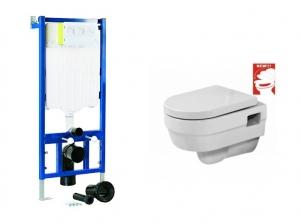 Sanotechnik JADE wc szett. Tartály, wc, soft close ülőke