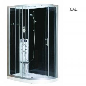 Sanotechnik Vario 120x80 Quick Line hidromasszázs zuhany kabin balos