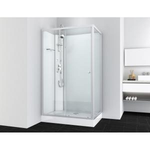 Sanotechnik VIVA 2 hidromasszázs zuhanykabin, aszimmetrikus, króm