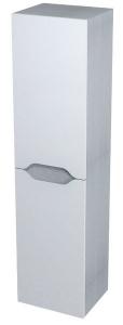 WAVE II állószekrény 35x140x30cm, fehér/ezüst tölgy