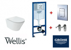 Grohe / Wellis CLEMENT Rimless wc szett