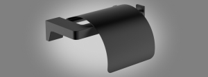 Wellis Mamba wc-papír tartó, matt fekete WE00114