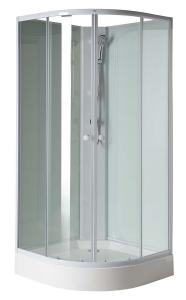 Sapho AIGO íves zuhany box 900x900x2050 mm, fehér profil, transzparent üveg