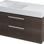 Sapho AMELIE mosdótartó szekrény, 2 fiókos, 100x50x44 cm ében, bal