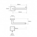 BEMETA BETA WC papírtartó, jobbos, 180x55x70mm, króm (132212032) (XQ702)
