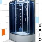Aqualife Brill D1202 mélytálcás fekete hidrokabin jobbos és balos kivitelben