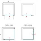 Roltechnik PXDON1+PXBN szögletes zuhanykabin nyíló ajtóval és egy fix fallal