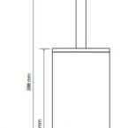BEMETA NERO WC kefetartó álló vagy falra szerelhető, 80x400x80mm, fekete (135913090)