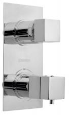 LATUS falbaépíthető termosztátos csaptelep, 2 irányú, króm (1102-85)