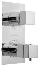 LATUS falbaépíthető termosztátos csaptelep, 3 irányú, króm (1102-92)