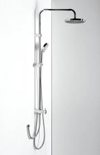 Zuhanyoszlop, csaptelepre szerelhető, fej- és kézizuhannyal (? 20 cm, 110 cm), (1202-13)