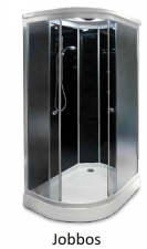 AQUALIFE 1202C hátfalas , asszimetrikus zuhanykabin