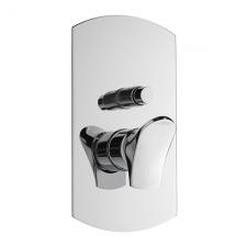 EFFEPI BÉK falbaépíthető zuhanycsaptelep 2 irányú váltóval, króm (13188)