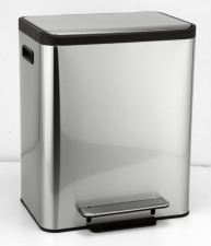 BEMETA HOTEL Szelektív hulladékgyűjtő, soft close, 404x492x321mm, 15l + 15l, inox (137115165)