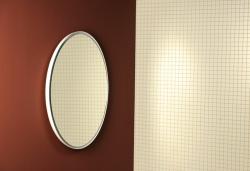 FLOAT tükör kerek 74 cm Fehér nap világítással