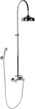 Antea zuhanyoszlop króm, kézi és fejzuhannyal, gégecsővel,csaptelep nélkül (SET021)