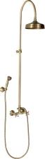 Antea zuhanyoszlop bronz,kézi és fejzuhannyal, gégecsővel,csaptelep nélkül (SET026)