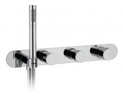 GLAM Falsík alatti termosztatikus csaptelep kézizuhany tartóval, króm (MB623)