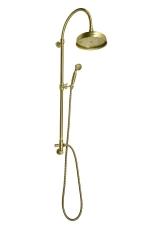 VANITY Zuhanyoszlop, csaptelepre szerelhető, fej- és kézizuhannyal, bronz (SET056)