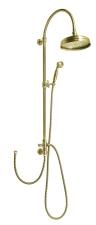 VANITY Zuhanyoszlop, csaptelepre szerelhető, fej- és kézizuhannyal, bronz (SET066)