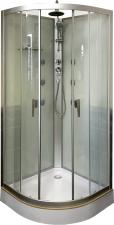 Aqualife Velence 8607 hidromasszázs fehér hátfalas zuhanykabin