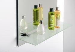AQUALINE SAMBA üvegpolc, 52x11,7cm, átlátszó üveg (SB115)